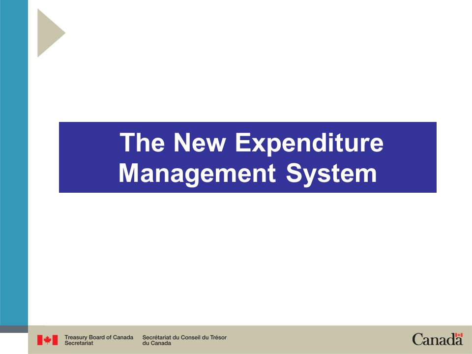 The government wants to deliver high quality services and high value programs at reasonable cost Expenditure Management System Renewal is changing the way the government operates and aims to ensure: Aggregate fiscal discipline (i.e.