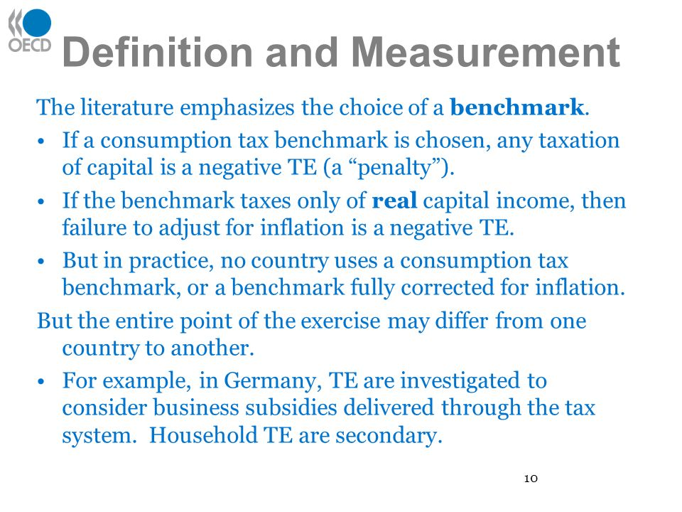 Definition and Measurement The literature emphasizes the choice of a benchmark.