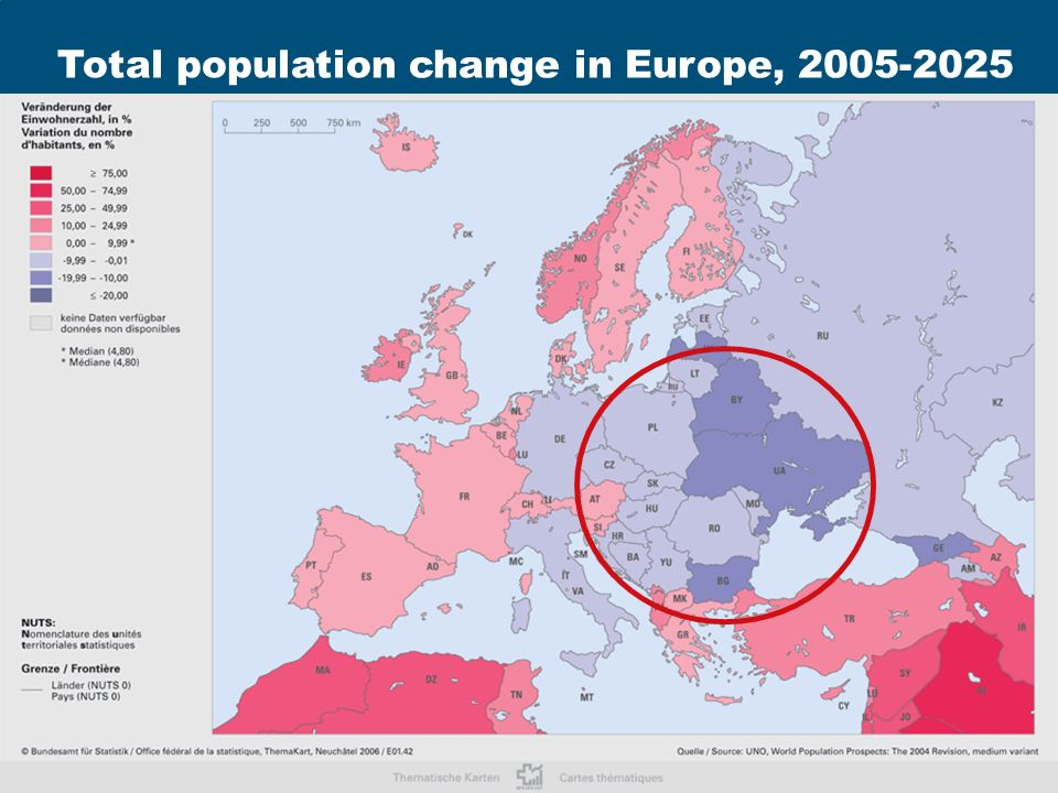 Rainer Muenz Aging and Demographic Change in Europe 2nd OECD World Forum on Statistics, Knowledge and Policy Istanbul, June 28, 2007 20 xxxxxxxxxxx Source: Labour Force Survey 2005 Total population change in Europe, 2005-2025