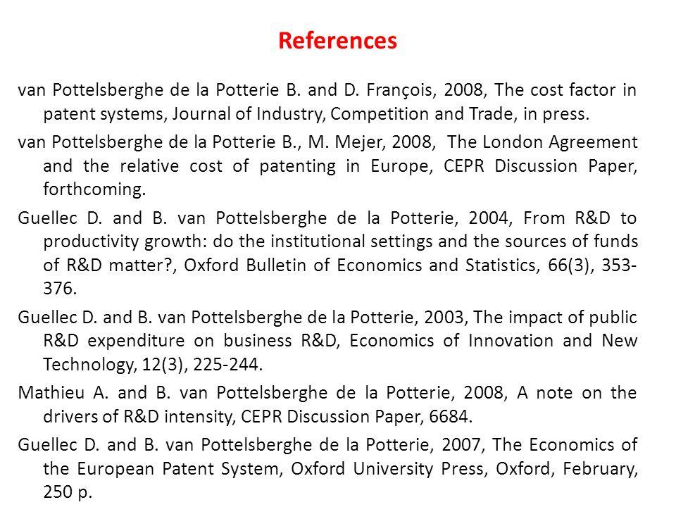 van Pottelsberghe de la Potterie B. and D.