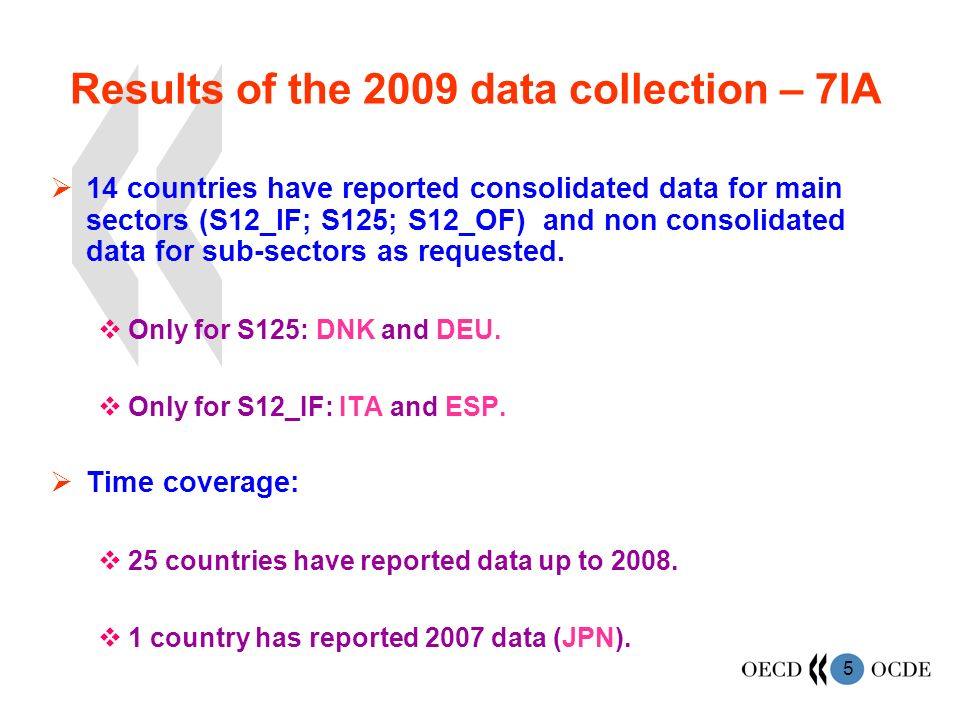 6 Data coverage - 7IA Sector coverage: 1 country covers all sectors requested : AUS.