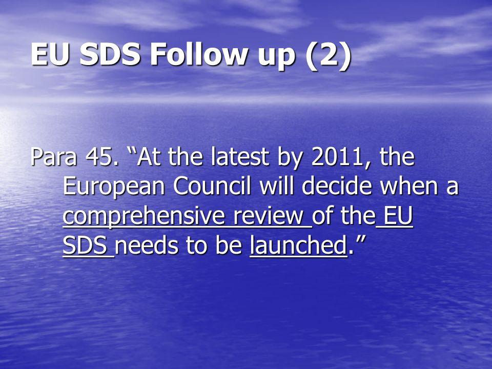 EU SDS Follow up (2) Para 45.