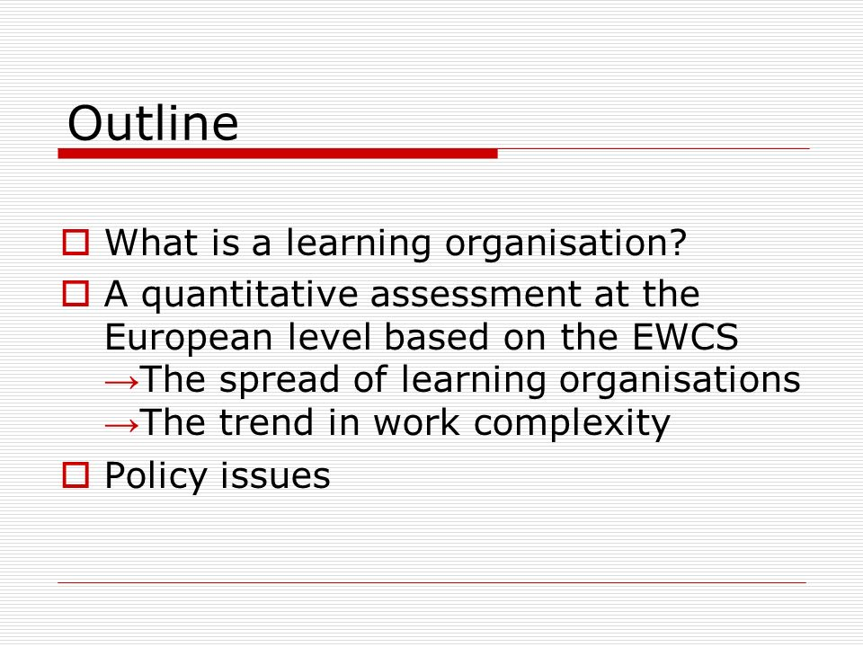 What is a learning organisation.