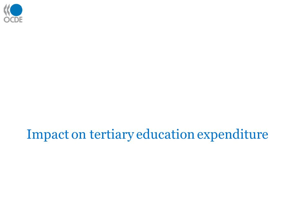 Impact on tertiary education expenditure