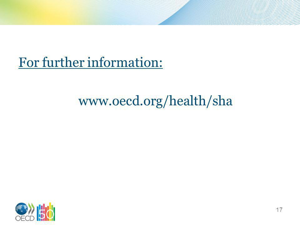 For further information: www.oecd.org/health/sha 17