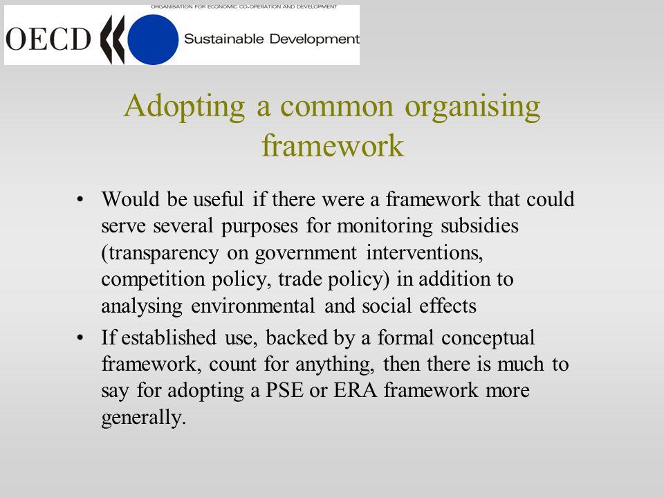 Adopting a common framework