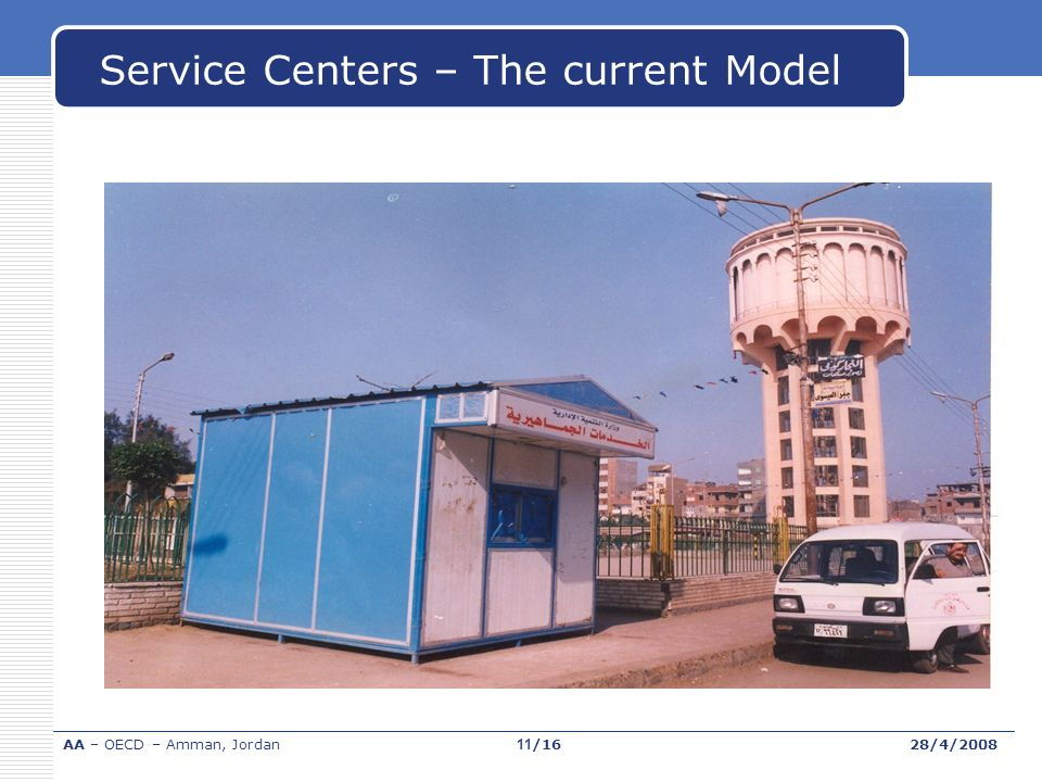 Service Centers – The current Model 50 AA – OECD – Amman, Jordan28/4/200811/16