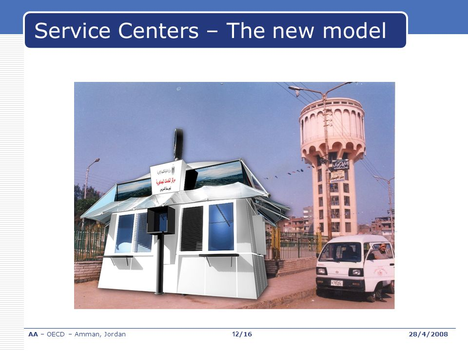 Service Centers – The new model AA – OECD – Amman, Jordan28/4/200812/16