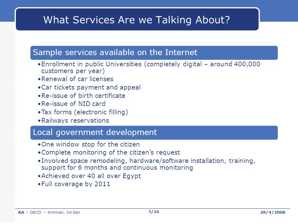What Services Are we Talking About.