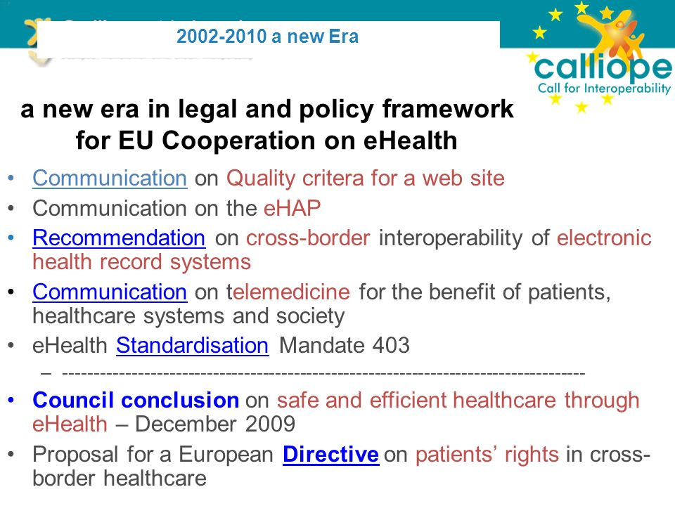 Together addressing open issues in the EU Recommendations – Elaborate – at the onset of the collaboration process – a two layered EU collaborative Governance based on current EU practice and the CALLIOPE experience – Consider the establishment of national multi- stakeholder platforms 38