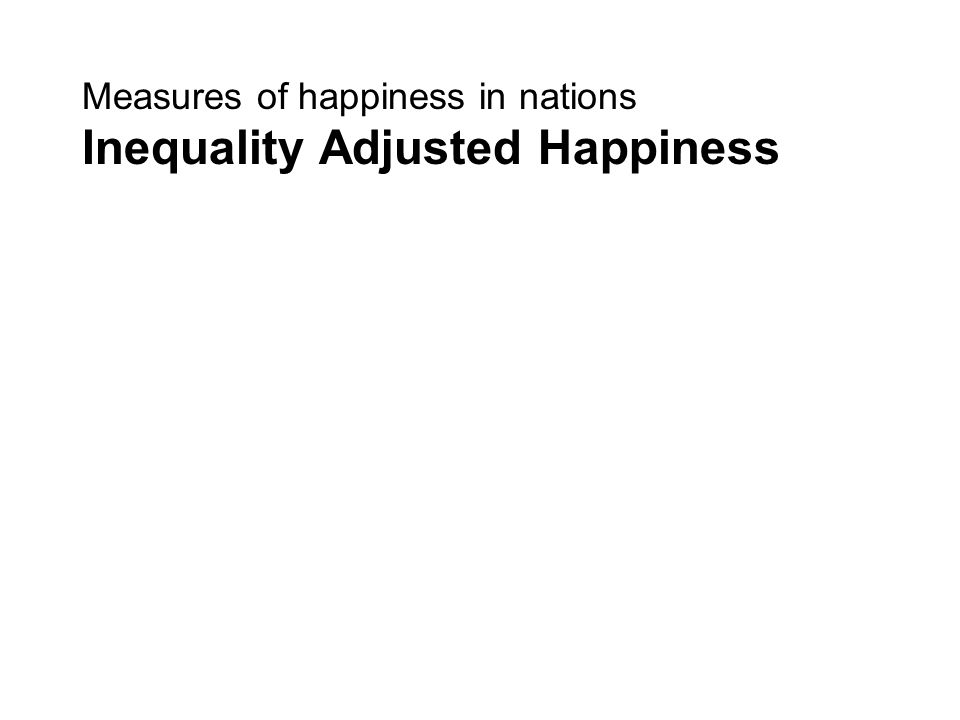 Measures of happiness in nations Inequality Adjusted Happiness