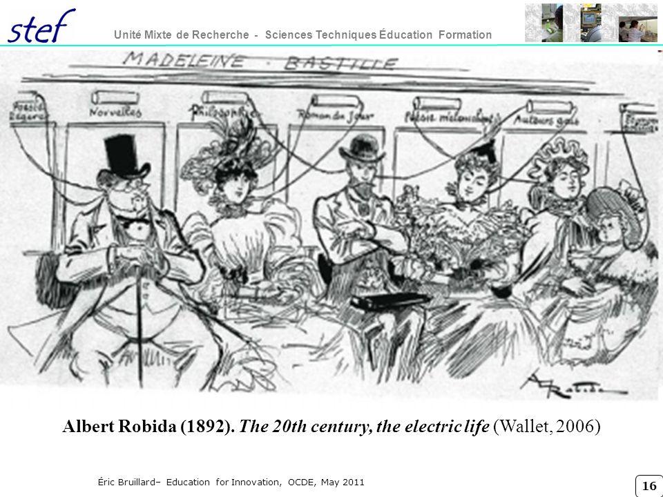 16 Unité Mixte de Recherche - Sciences Techniques Éducation Formation Éric Bruillard– Education for Innovation, OCDE, May 2011 Albert Robida (1892). T