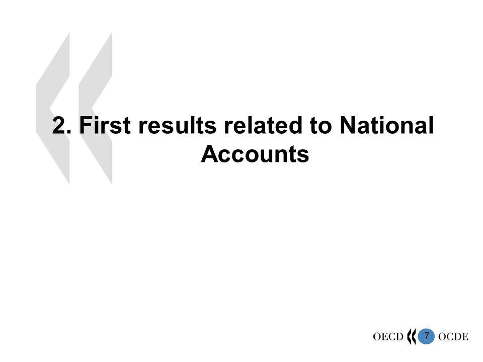 7 2. First results related to National Accounts