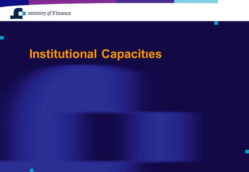 Institutional Capacitıes