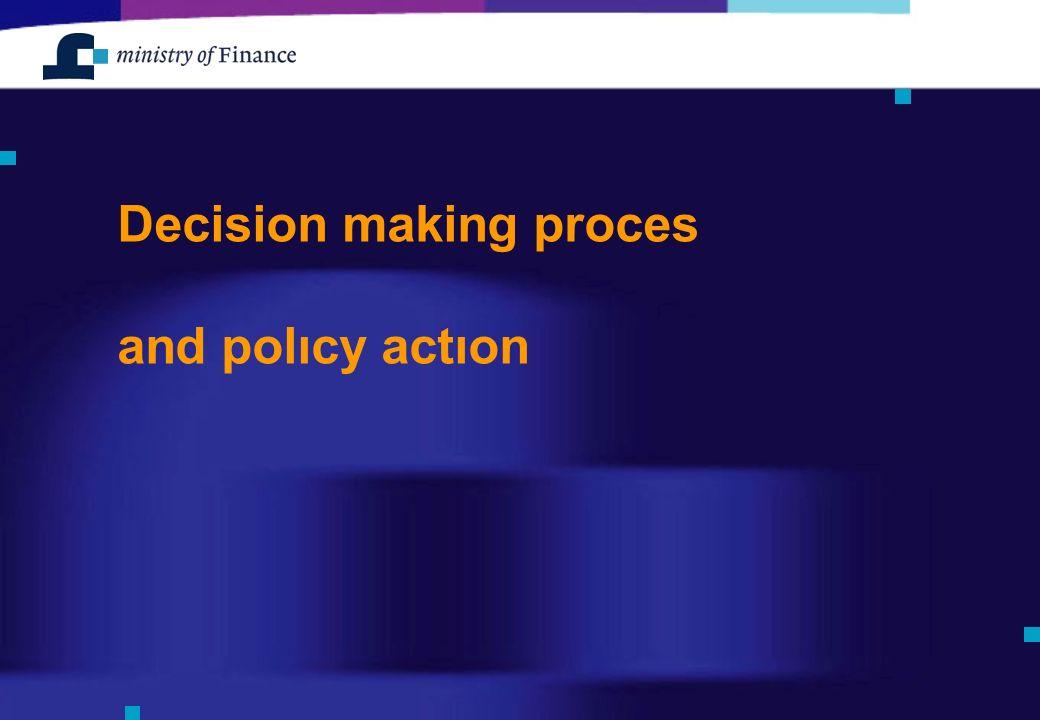 Decision making proces and polıcy actıon