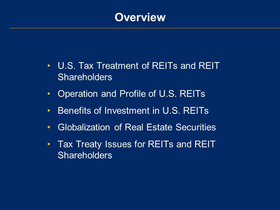 U.S.Tax Treaty Policy for REIT Dividends Pre-1988: –Non-U.S.