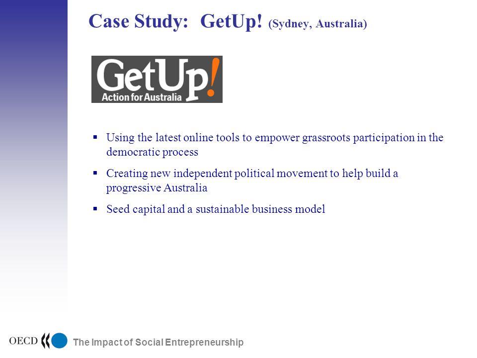 The Impact of Social Entrepreneurship Case Study: GetUp.