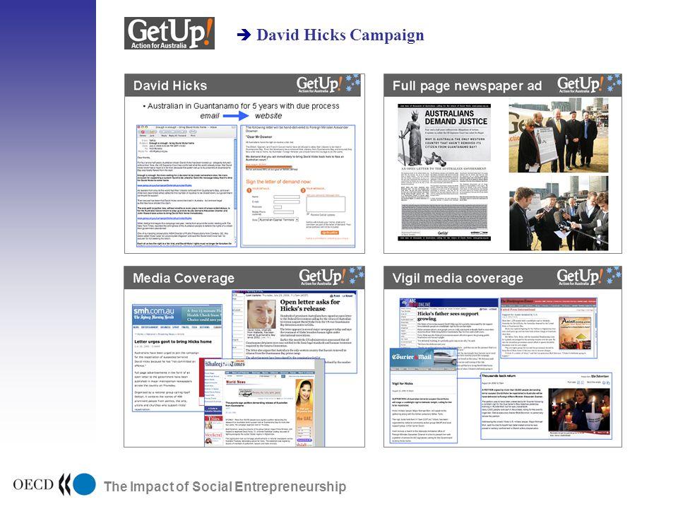The Impact of Social Entrepreneurship David Hicks Campaign