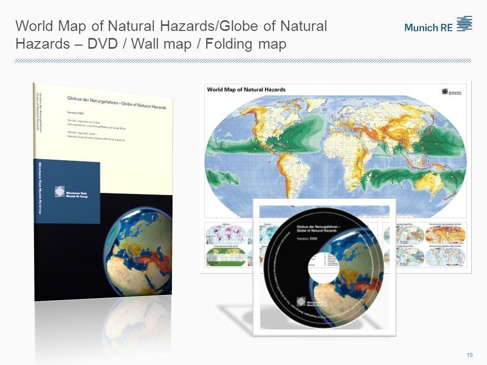 World Map of Natural Hazards/Globe of Natural Hazards – DVD / Wall map / Folding map 19
