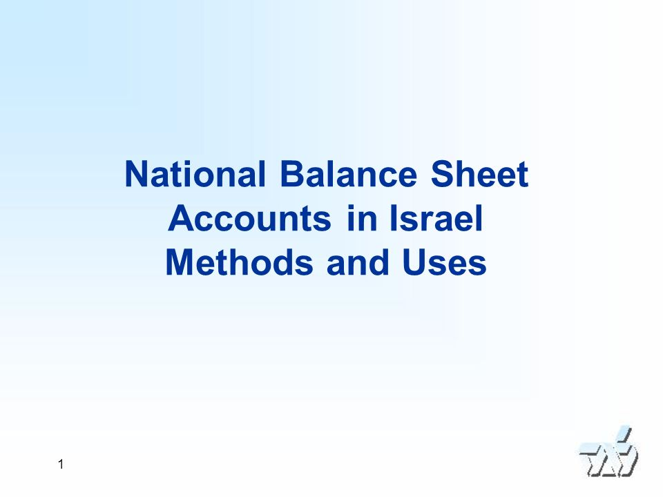 2 Contents Introduction Sources and Methods Co-operation with the financial stability unit at the Bank of Israel Uses of the balance sheets Main findings of latest balance sheet