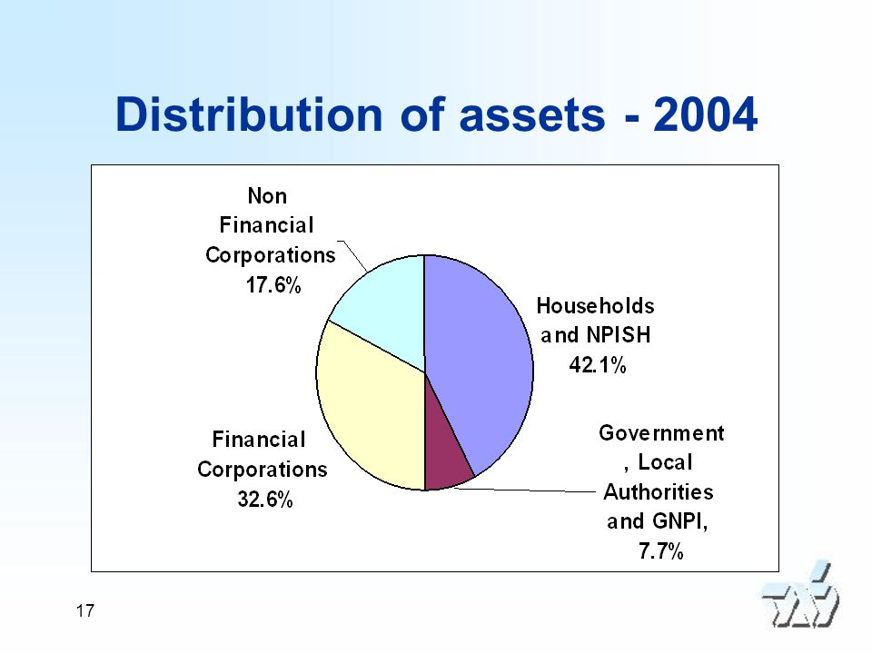 17 Distribution of assets - 2004