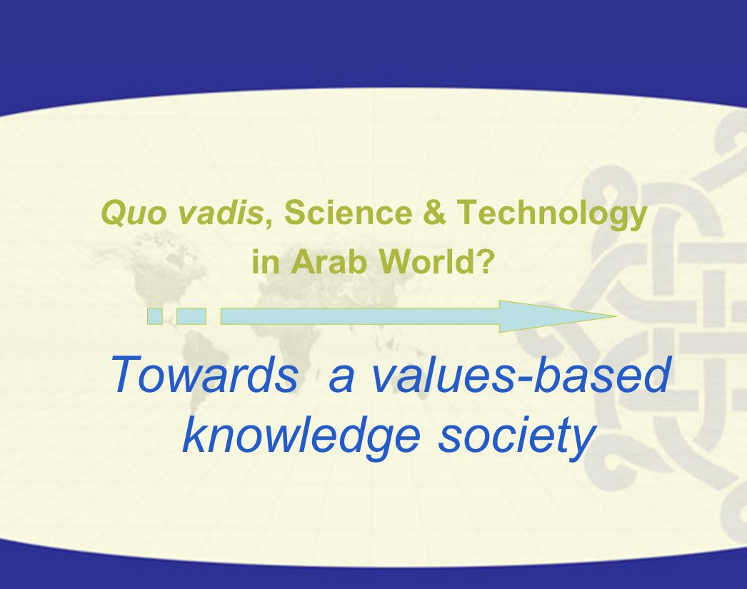 All the activities included in this chapter aim to integrate all the capacities of the Arab science and technology system and to integrate science and technology in Arab economy.