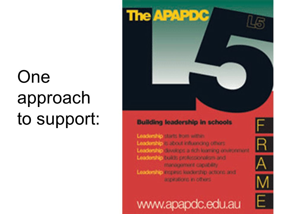 One approach to support: