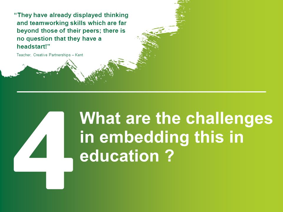 What are the challenges in embedding this in education .