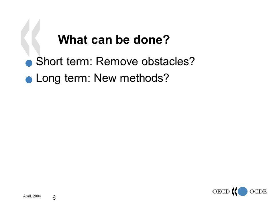 April, 2004 17 Quality Review Statistics X Quality problems Recommen- dations SIS Migration Plan