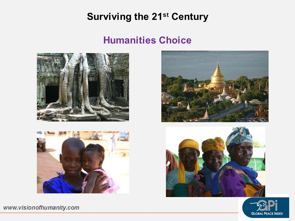 Surviving the 21 st Century Humanities Choice www.visionofhumanity.com