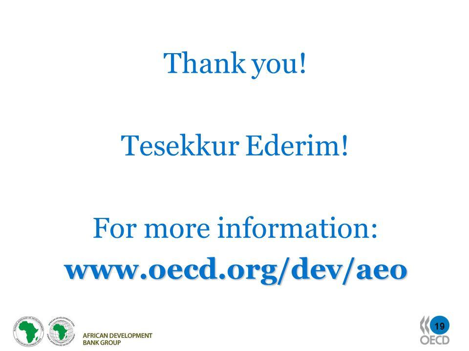 19 Thank you! Tesekkur Ederim! For more information:www.oecd.org/dev/aeo