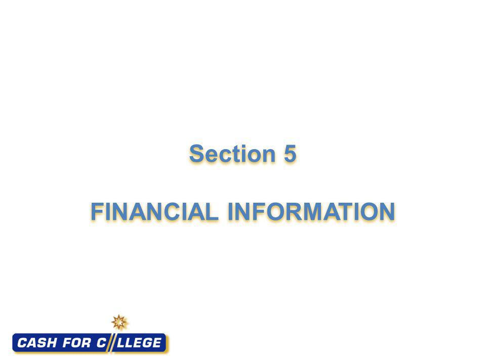 Section 5 FINANCIAL INFORMATION