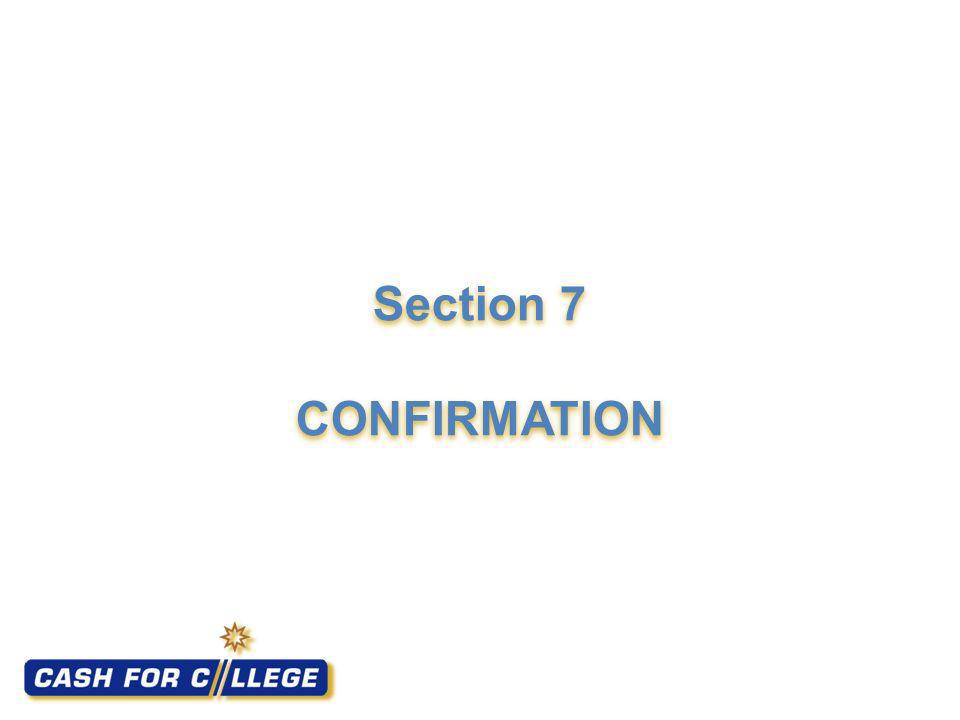 Section 7 CONFIRMATION