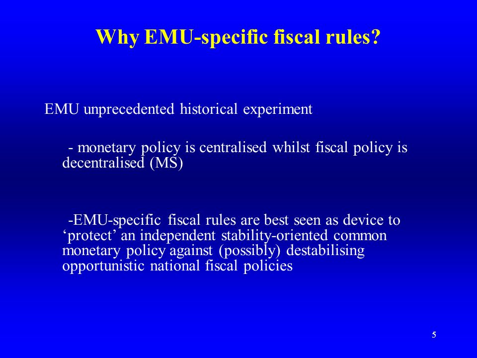4 The rationale for sound public finances in EMU 1.