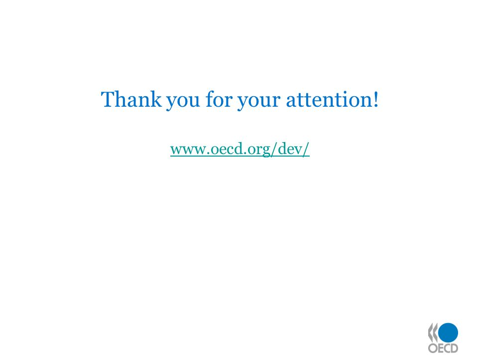 Thank you for your attention! www.oecd.org/dev/