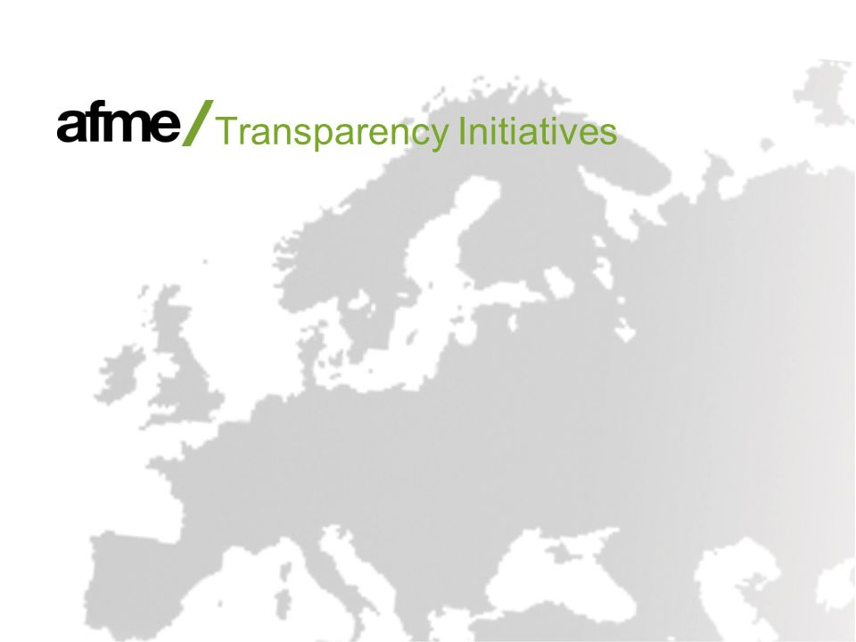 Transparency Initiatives