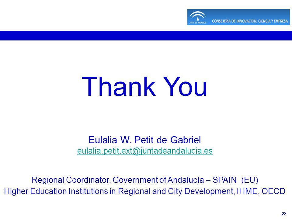 22 Thank You Eulalia W.