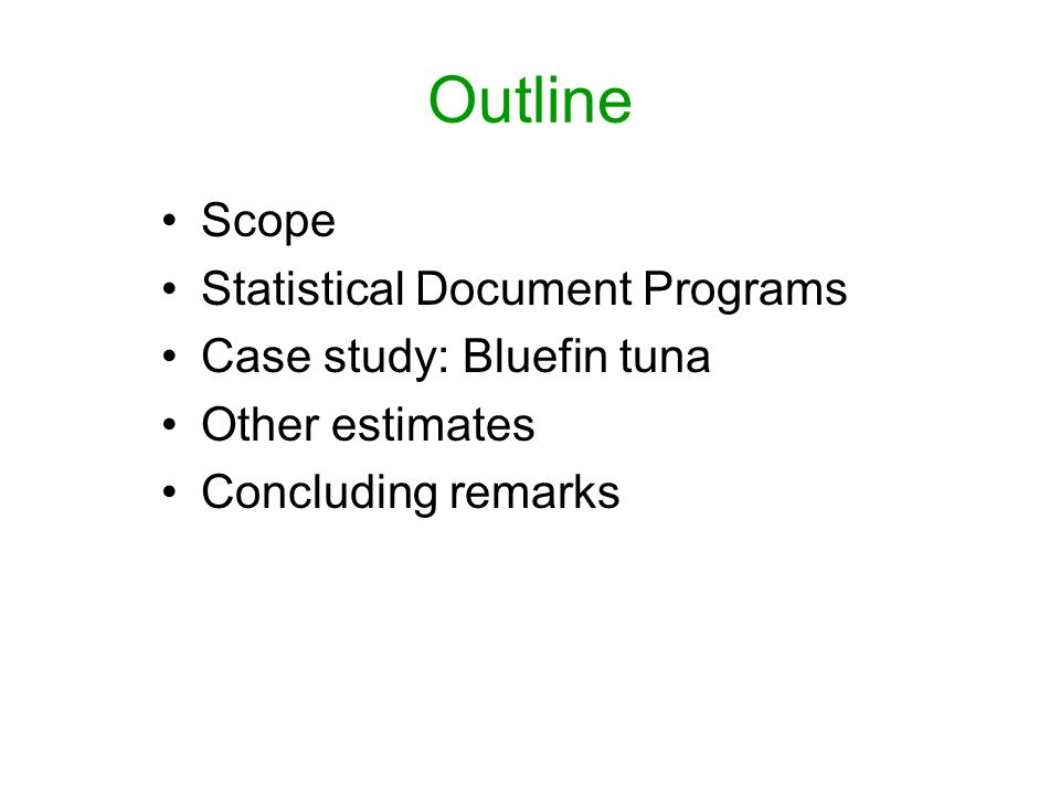 Case study: Bluefin The result of applying the formulation suggests that 1% to 5% of Atlantic bluefin catches go unreported.