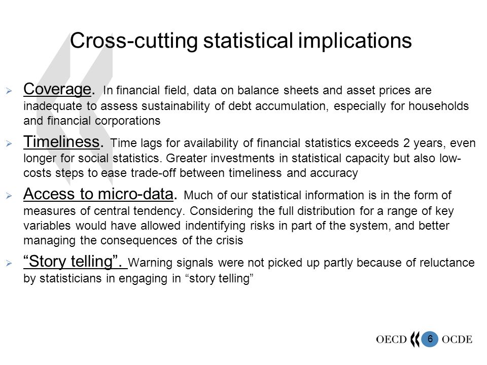 6 Cross-cutting statistical implications Coverage.