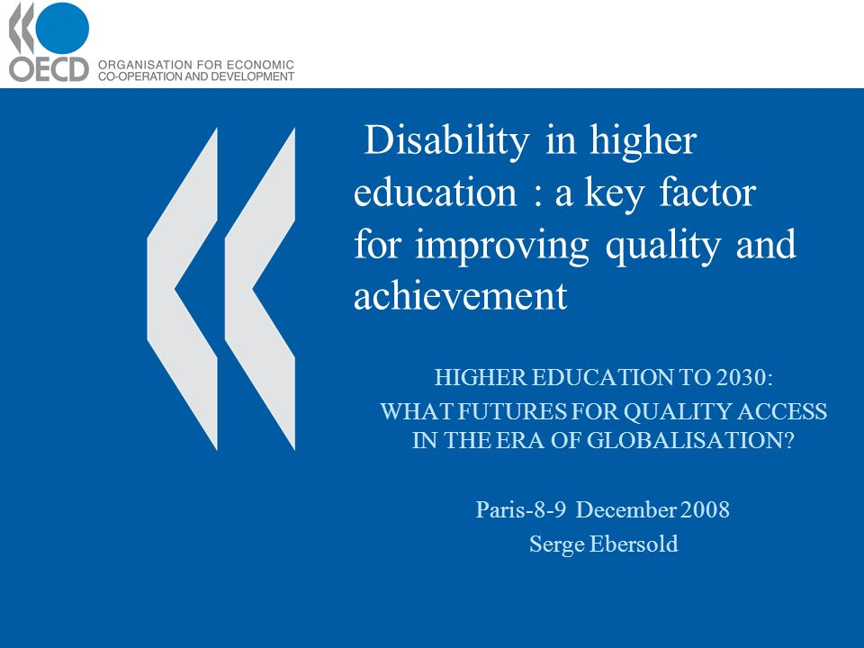 A medical approach restricts ability to focus on quality and effectiveness Delivery of supports and accommodations can be neither individualised nor evaluated: –Accommodations and support are delivered according to a level of incapacity instead of an educational need Access to HE depends on students ability to cope with the requirements.