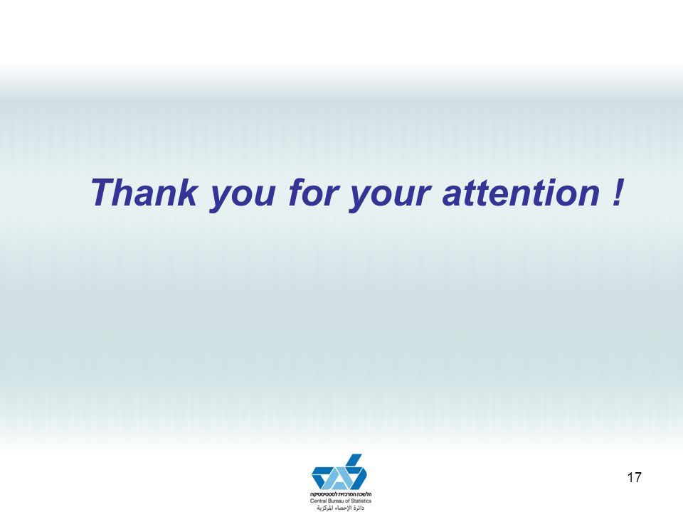 Thank you for your attention ! 17