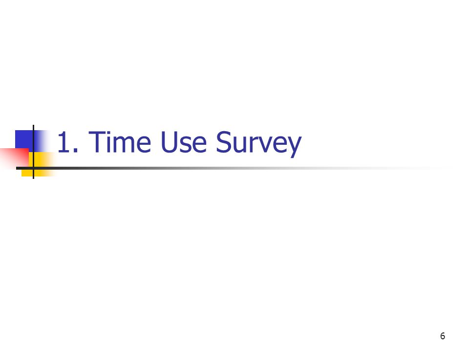 6 1. Time Use Survey