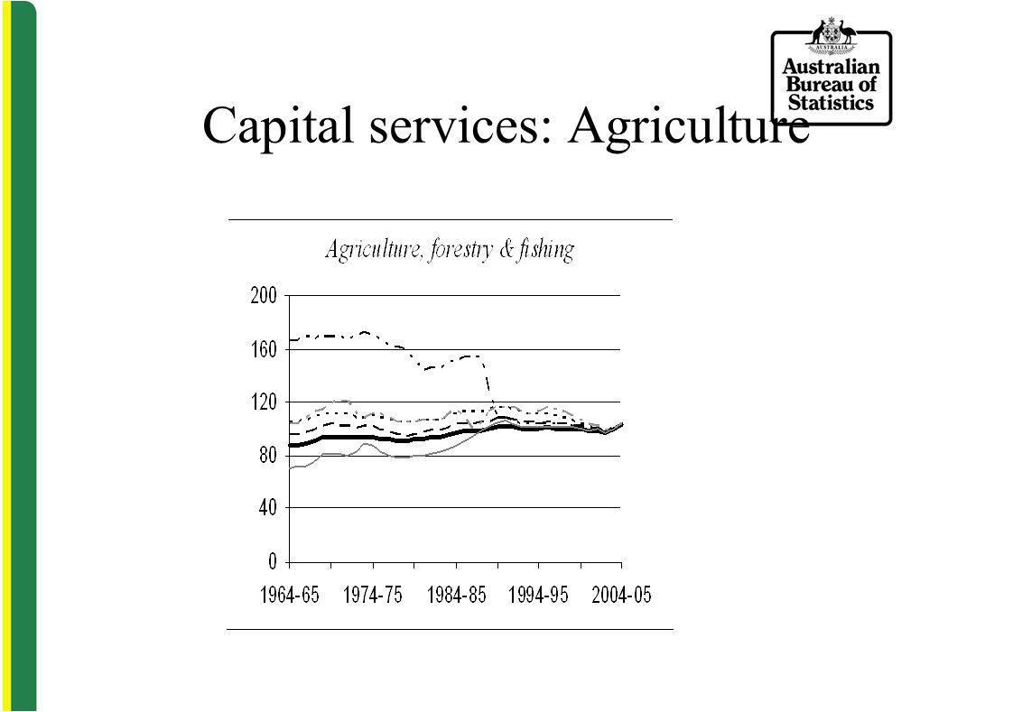 Capital services: Agriculture