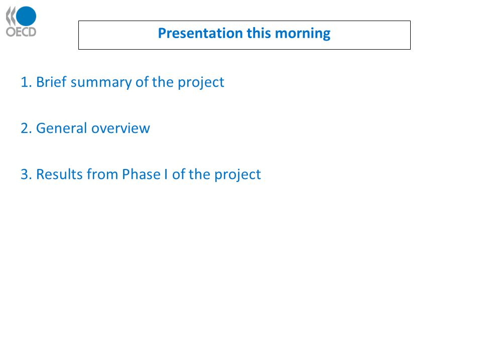 1. Brief summary of the project 2. General overview 3.
