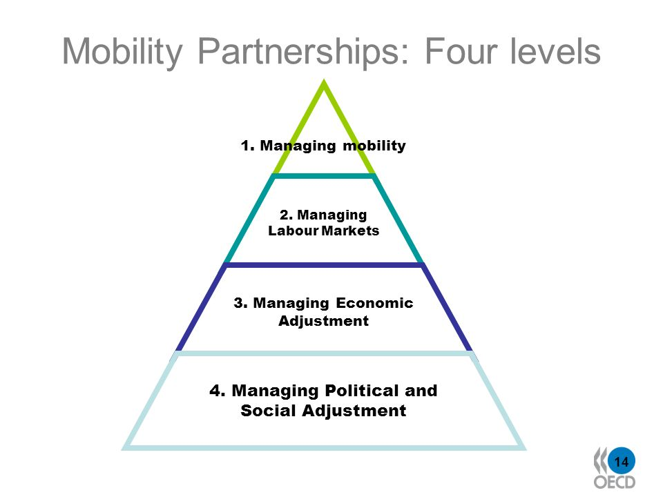 14 Mobility Partnerships: Four levels 2.Managing Labour Markets 3.