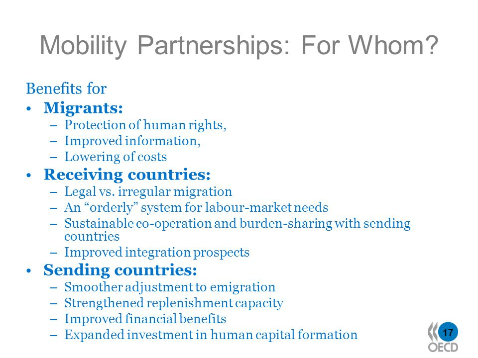 17 Mobility Partnerships: For Whom.