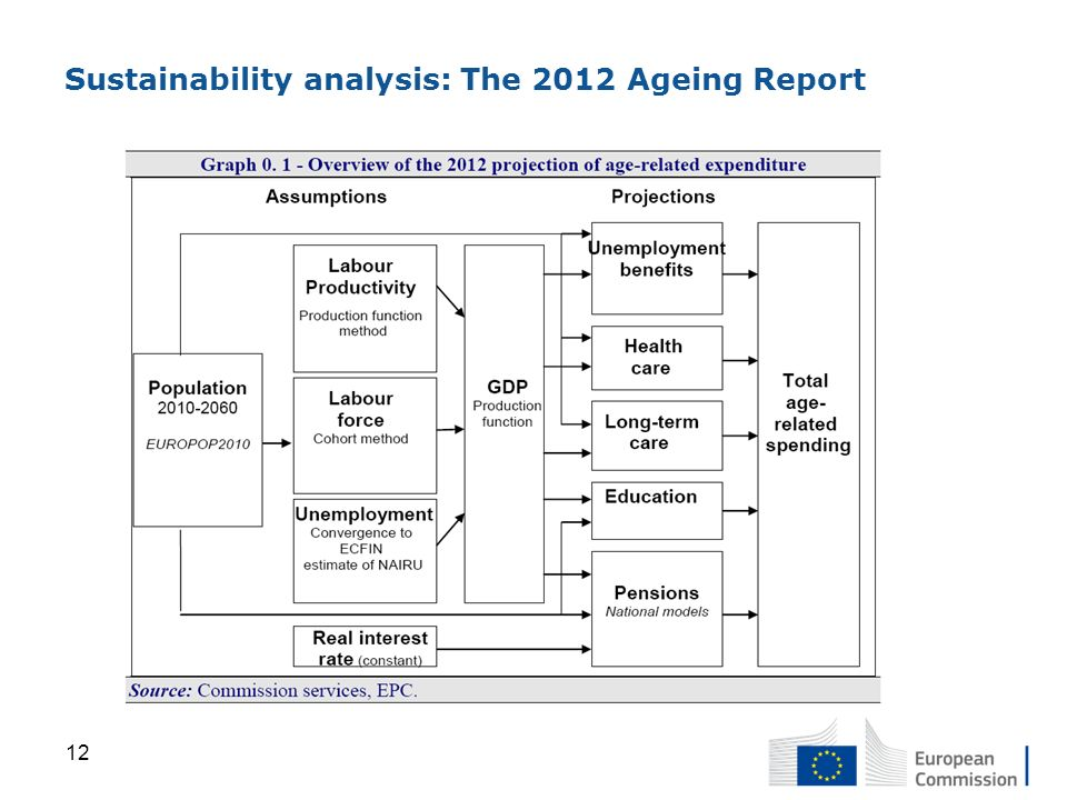 Sustainability analysis: The 2012 Ageing Report 12