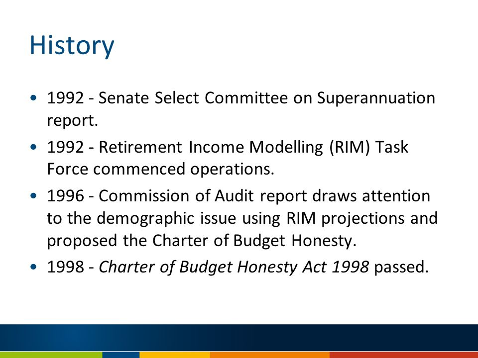 History Senate Select Committee on Superannuation report.
