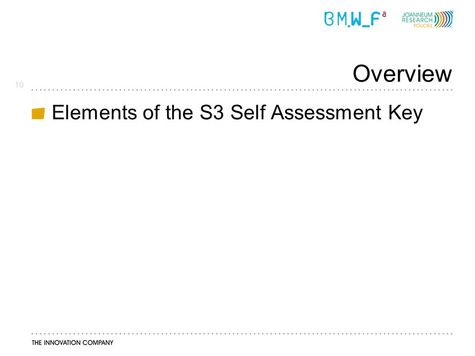 10 Overview Elements of the S3 Self Assessment Key