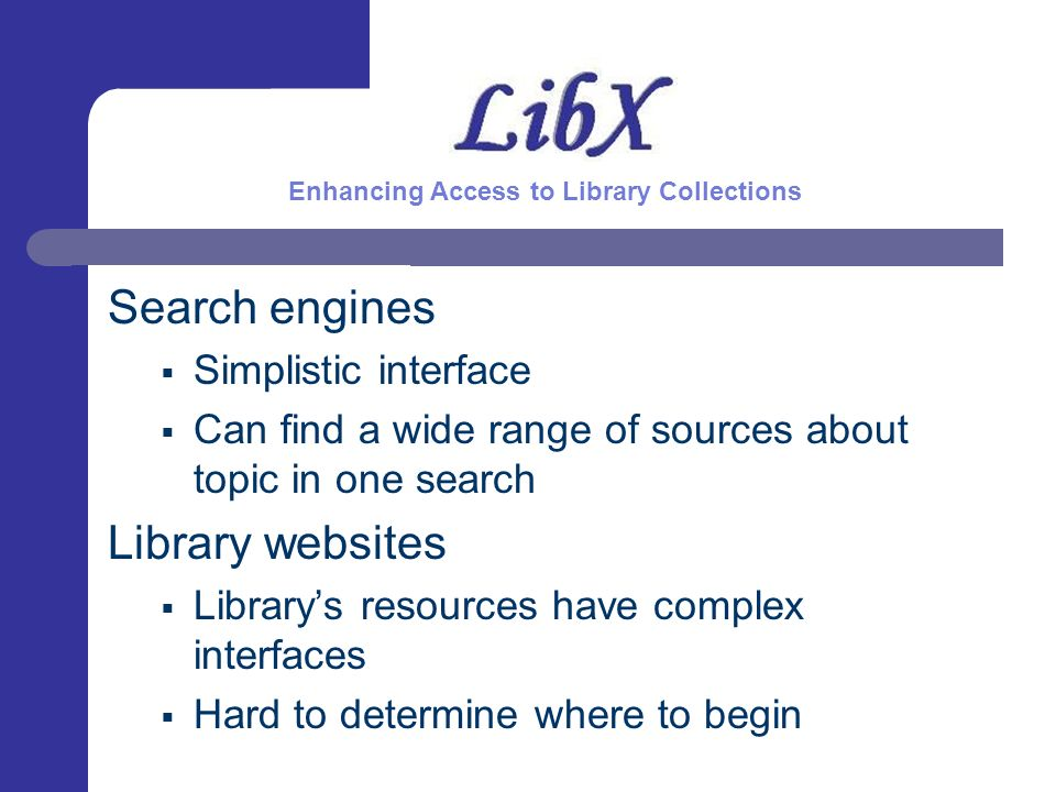In 2005, Joan Lippincot stated: Libraries need to find ways to make their information access systems more approachable by students...